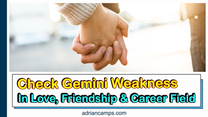 Check Gemini Weakness In Love, Friendship, And Career Field
