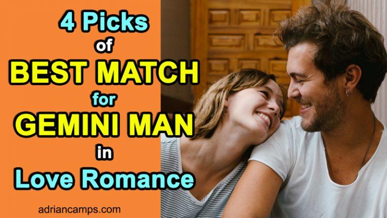 4 Picks of Best Match for Gemini Man in Love Romance